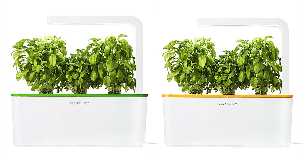 Click and Grow Smart Herb Garden vert et orange