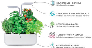 Potager Véritable® SMART Copper - Technologie ADAPT' LIGHT - Jardin autonome d'intérieur Made in France