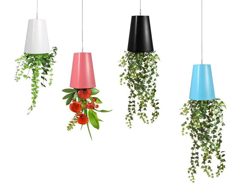 Zerodis Pot de Fleurs à Suspendre Jardinière Plantes Suspendu à l'envers en Plastique