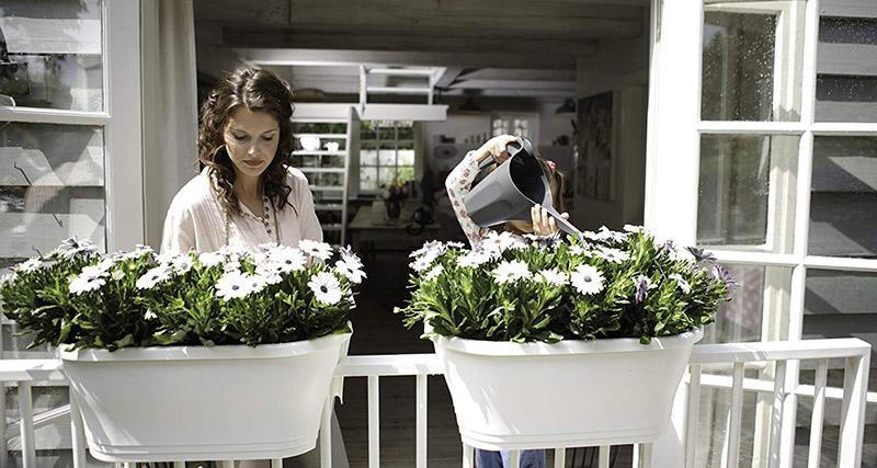 elho pot de fleurs - corsica flower bridge 60cm anthracite