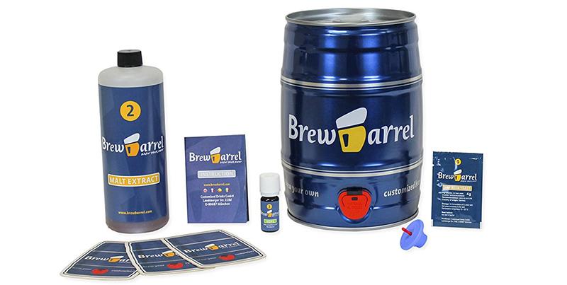 BrewBarrel Bière Blonde - Kit de Brassage - Fabrication de la Bière Faites votre Bière en Fut 5L