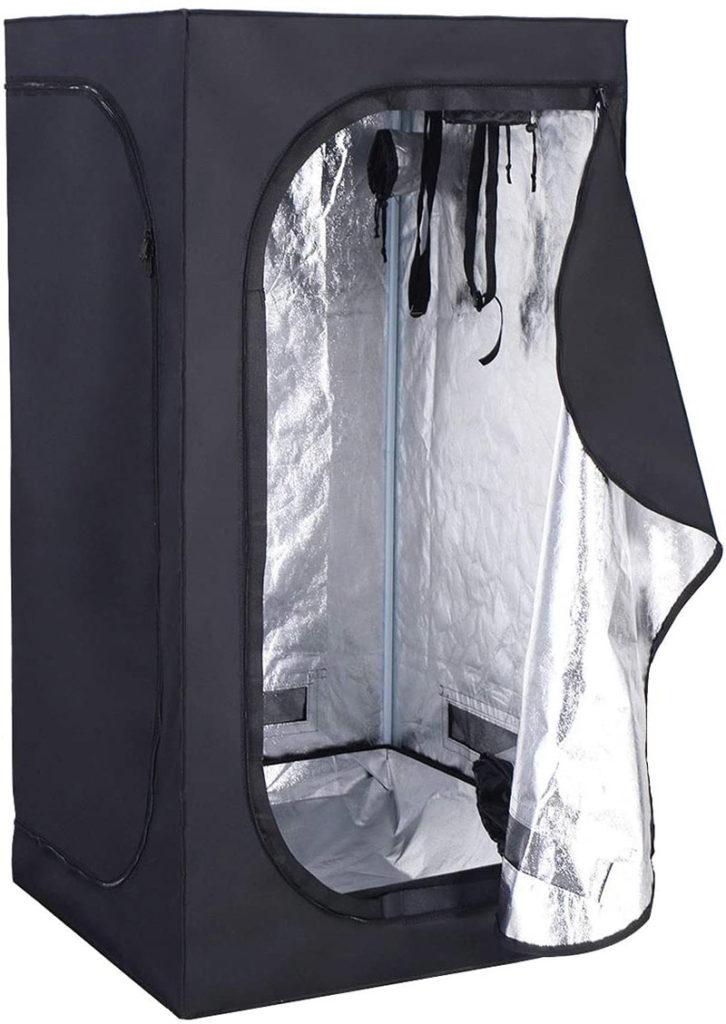 Costway Tente de Culture Tente Hydroponique Chambre de CultureTente à Effet de Serre d'Intérieur