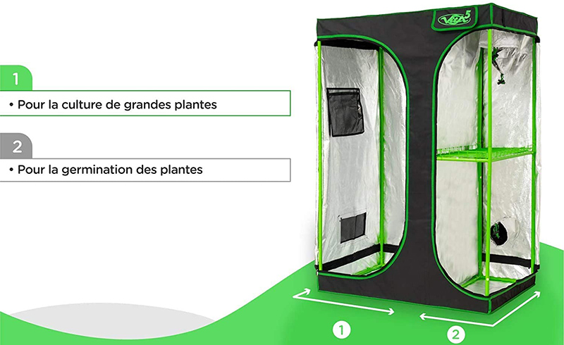 Test et Avis VITA5 Chambre de Culture 2 en 1 - Box Culture Indoor pour Homegrowing
