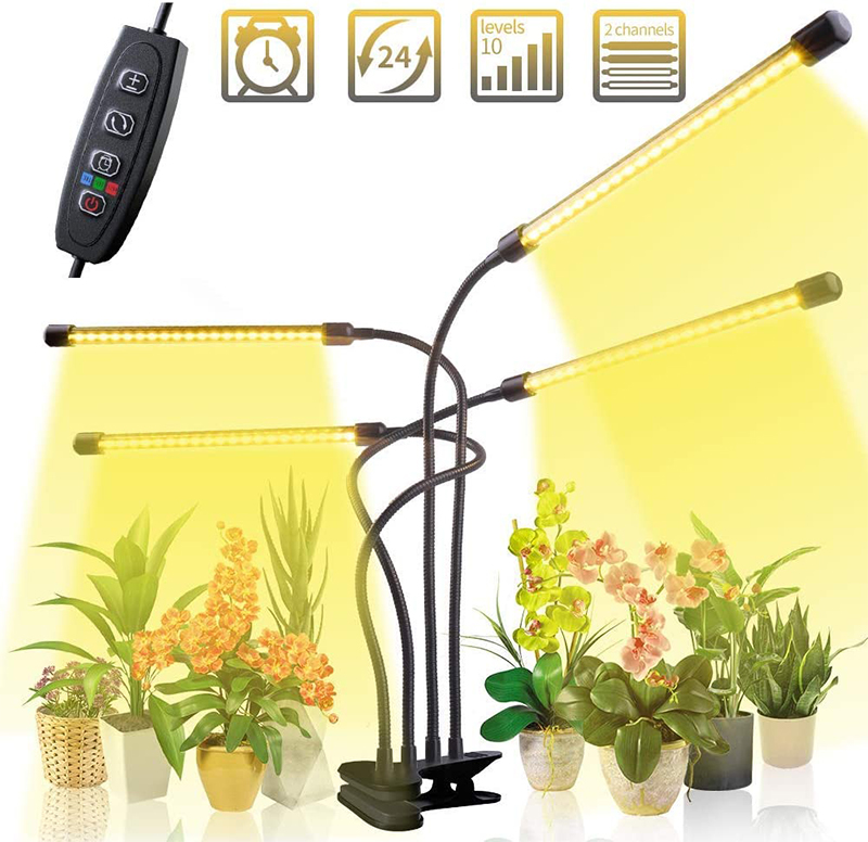 Avis - Lampe Horticole 40W Culture Indoor 80 LEDs LED Horticole Grow LED avec 3H9H12H Minuterie et Luminosité 10 Dimmable pourIntérieurSerreHydroponiqueGro
