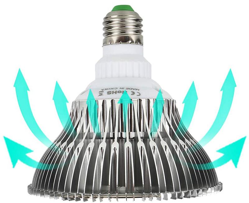 Avis - Lampe de Plante LED à Spectre Complet 100W E27 Ampoule Éclairage pour Plantes Lampe de Croissance de Ampoules de Lumières Grow Light pour