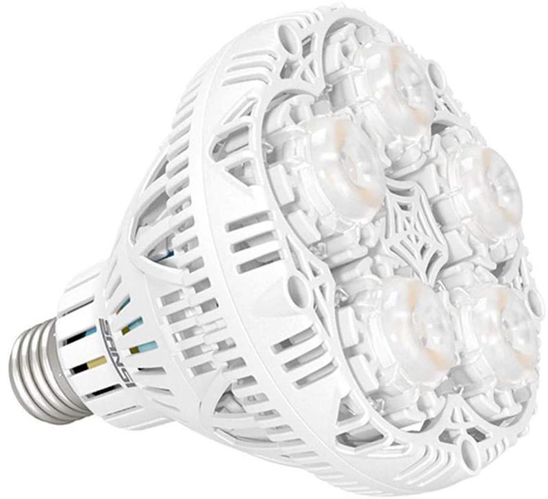 Avis - SANSI Lampe Horticole LED à Spectre Complet 24W Lampe de Croissance E27 à Cycle Complet, 2000lm Lumière du Jour Blanc,Lampe de Plante pou