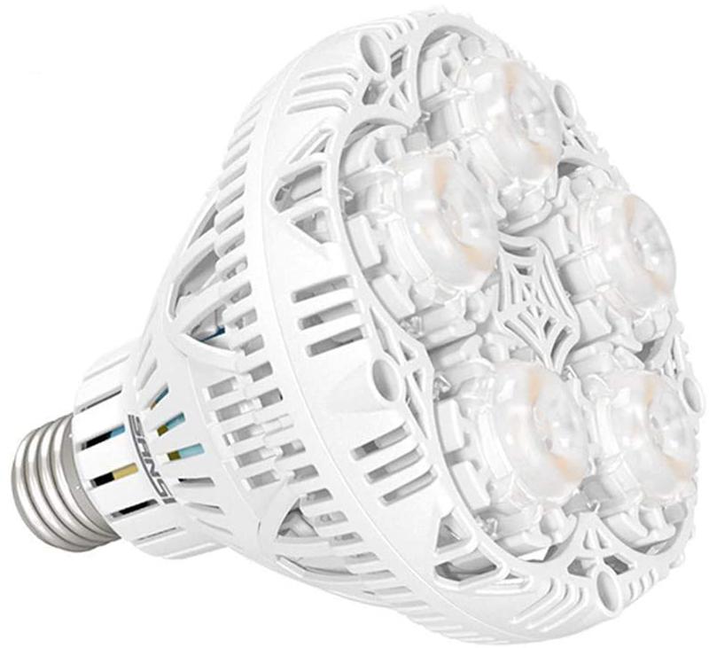 Avis - SANSI Lampe Horticole LED à Spectre Complet 24W Lampe de Croissance E27 à Cycle Complet, 2000lm Lumière du Jour Blanc,Lampe de Plante