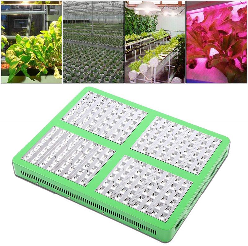 Test - LED Grow Light Lampe de croissance LED (960 W) pour plantes d'intérieur - Étanchéité IP 43 - Pour plantes, légumes et fleurs