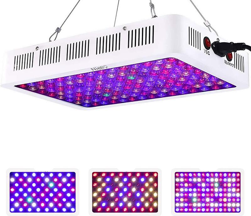 Test et Avis - Niello Lampe de Culture 600w, La série de lentilles optiques LED élève la lumière, la lumière des Plantes à Spectre Complet av
