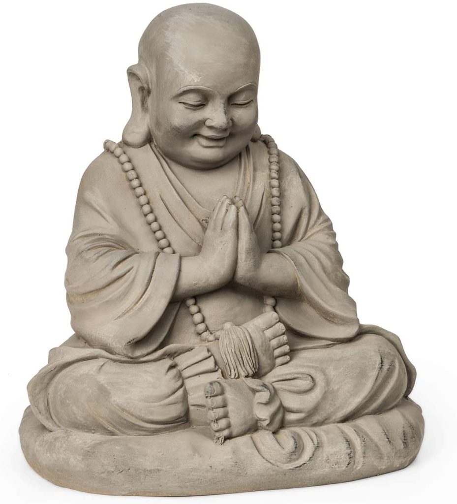 AVis - blumfeldt anjali - statue jardin bouddha