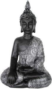 Avis - feng shui décoration grande bouddha jardin zen statue XL bouddhas figurine méditation pierre moulée - intérieur et extérieur résistant au gel 4