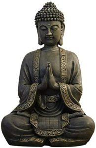 Test - Zen'Light Grande Statue Bouddha Méditation , Résine, Bronze, 15 x 24 x 37.5 cm