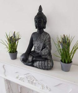 Test - feng shui décoration grande bouddha jardin zen statue XL bouddhas figurine méditation pierre moulée - intérieur et extérieur résistant au gel 4