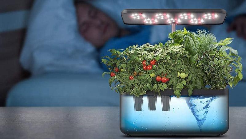 iDOO Jardin Interieur Potager d'Intérieu avec LED Lampe de Plante Jardin d'herbes d'intérieur Intelligent