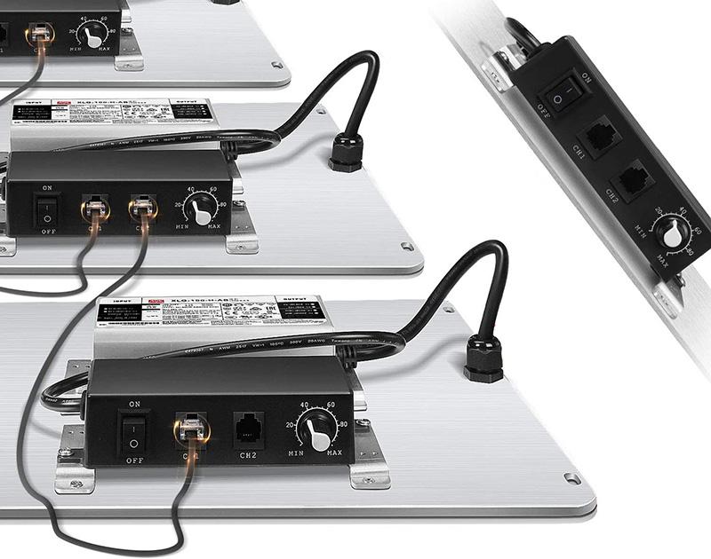 test SPIDER FARMER SF2000 Lampe Horticole à Spectre Complet à variateur d'intensité